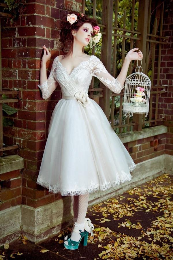 Popular Tea Length Bridal-Buy Cheap Tea Length Bridal lots from ...