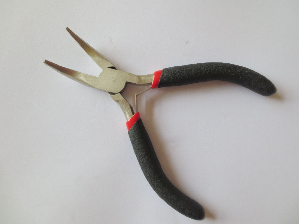 50 PCS / Lot 4.5 NoseClamp i përkulur i zi me pincë të butë për zgjatjen e flokëve