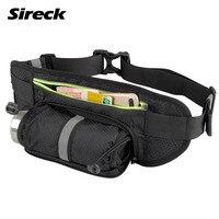 Sireck Running Bag Sports Water Bottle Holder Running Belt Waist Bag Waterproof Fanny Pack Men Women
