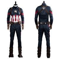 Avengers Endgame Captain America Cosplay Steve Rogers Cosplay Costume Adult Men Full Suit Outfit Halloween Carnival Costume