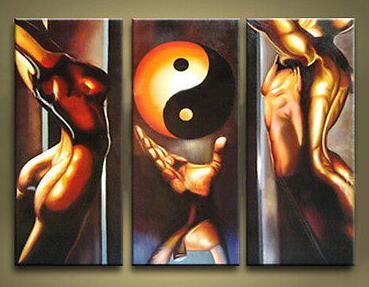 Large canvas Modern Abstract Oil Painting:FENG SHUI ZEN Wall Art  Decor(China (