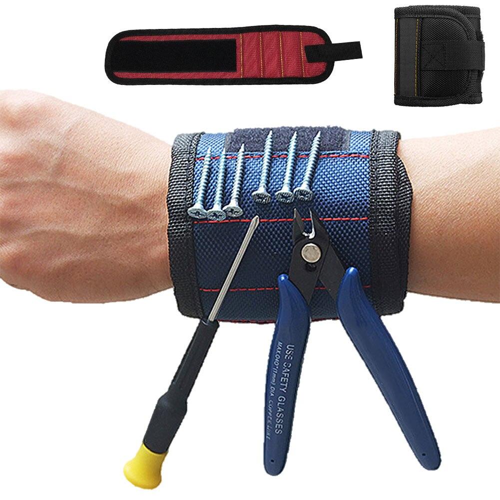 Инструментальный шкаф Сильный магнитный крепежный инструмент для запястья комплект Регулируемый ремень винт гайка для ногтей болт фиксирующий инструмент ремень-kk