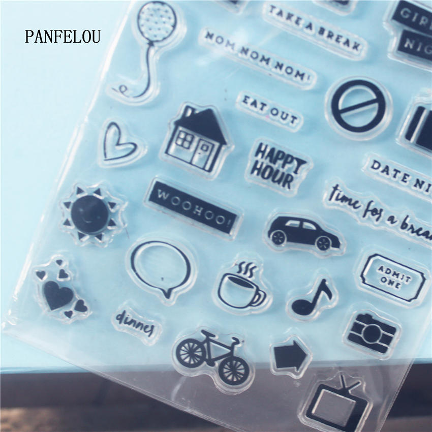 PANFELOU The sign arrow Clear Stamp DIY Silicone Seals Scrapbooking/Card Making/Photo Album Decoration Supplies sheets