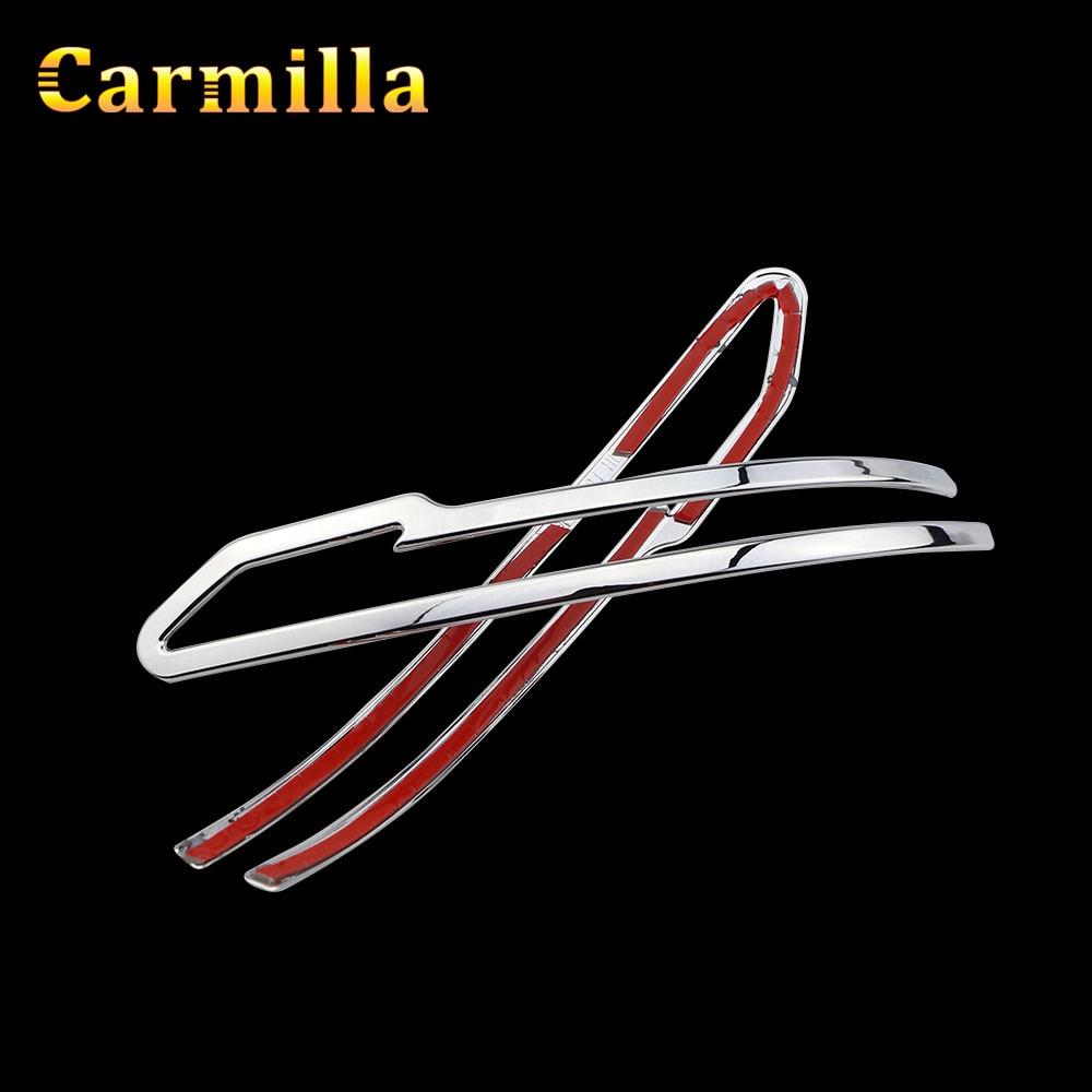 все цены на Carmilla Car Chrome Rearview Mirror Protector Cover Rear View Mirror Trim Sticker for Nissan X-trail Xtrail Rogue T32 2013-2017 онлайн