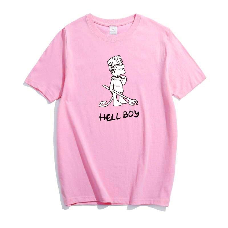 Sopinky Femmes T-shirt Femelle D'origine Enfer Garçon Lettre Imprimé Rappeur T-shirt 100% Coton Doux Graphique Nouveauté T-shirt Surdimensionné