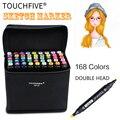 TouchFive маркеры 30/40/60/80 цветные маркеры для рисования  школьные маркеры для дизайна и дизайна
