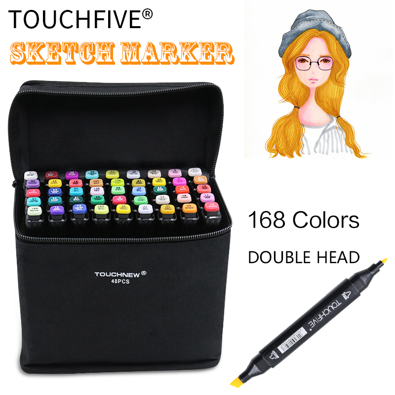TouchFive Marker 30/40/60/80 Color Drawing Art Markers For Architecture Design Sketch Markers School Supplies touchnew 60 colors artist dual head sketch markers for manga marker school drawing marker pen design supplies 5type