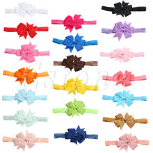 1Pc Newborn Toddler Girl Baby Headband Lot Elastic Hair bow Headdress(China)