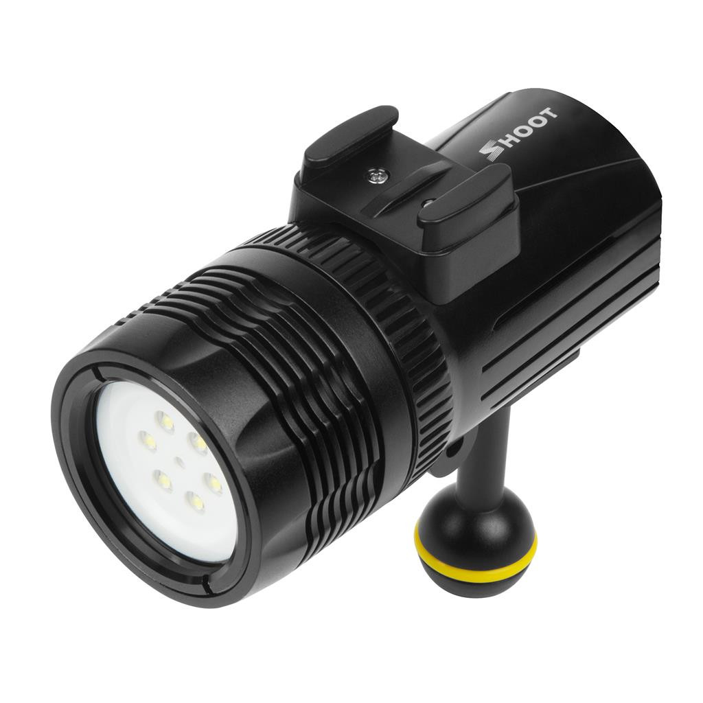 Tirez 1000LM lumière de torche de plongée sous-marine pour DJI Osmo Action pour GoPro Hero Xiaomi mija pour 4 k Sjcam Action 5.24