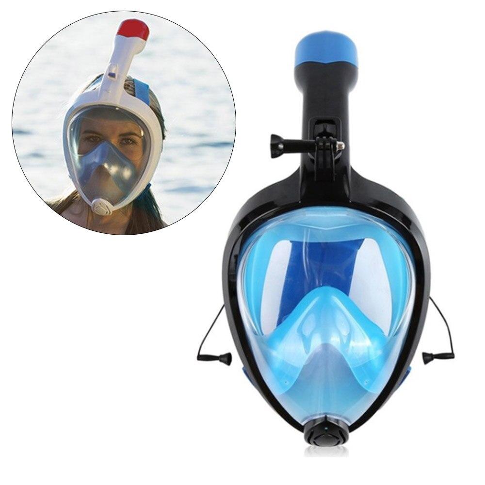 Diligente Di Nuoto Anti-nebbia Anti-perdita Mascherina Di Immersione Subacquea Pieghevole Completo Viso Lo Snorkeling Maschere Accessori Di Montaggio 3 Di Colore