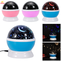 Room Novelty Night Light Projector Lamp Rotation Flashing Starry Night Projector Usb Led Light Battery Baby