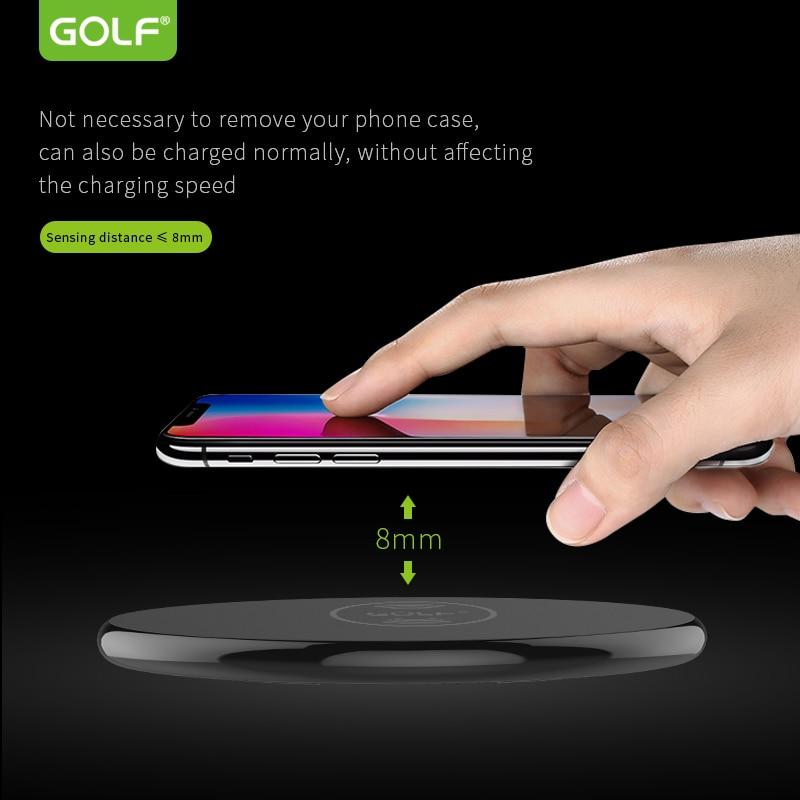 Golf Metal Age Wireless charger 5W Qi Wireless Charger Desktop Wireless Charging for Samsung Galaxy S9 S8 iPhone X 8 WirelessFas