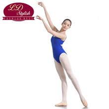 Female Royal Blue Training Leotards Adult Competition Dance Skirt Stage Performance Gymnastic Dancewear Adults Practice Clothing