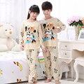 Children Pajamas New Sale 2016 Autumn&Winter Baby Sleepwears Suits Lovely Girls Pyjamas boys Cartoon Pijamas Kids Clothing set