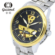 Gucame диаметр диска 40.5 мм наручные часы для мужчин автоматические механические часы полые мужская высокого класса модного бизнеса
