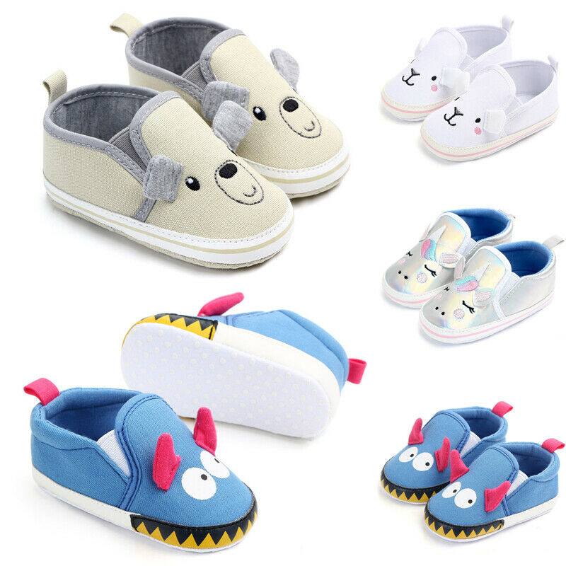 Fashion Blue Cartoon Baby Girl Boy Shoes Lovely Infant First Walkers Good Soft Sole Toddler Baby Shoes Hot Sale