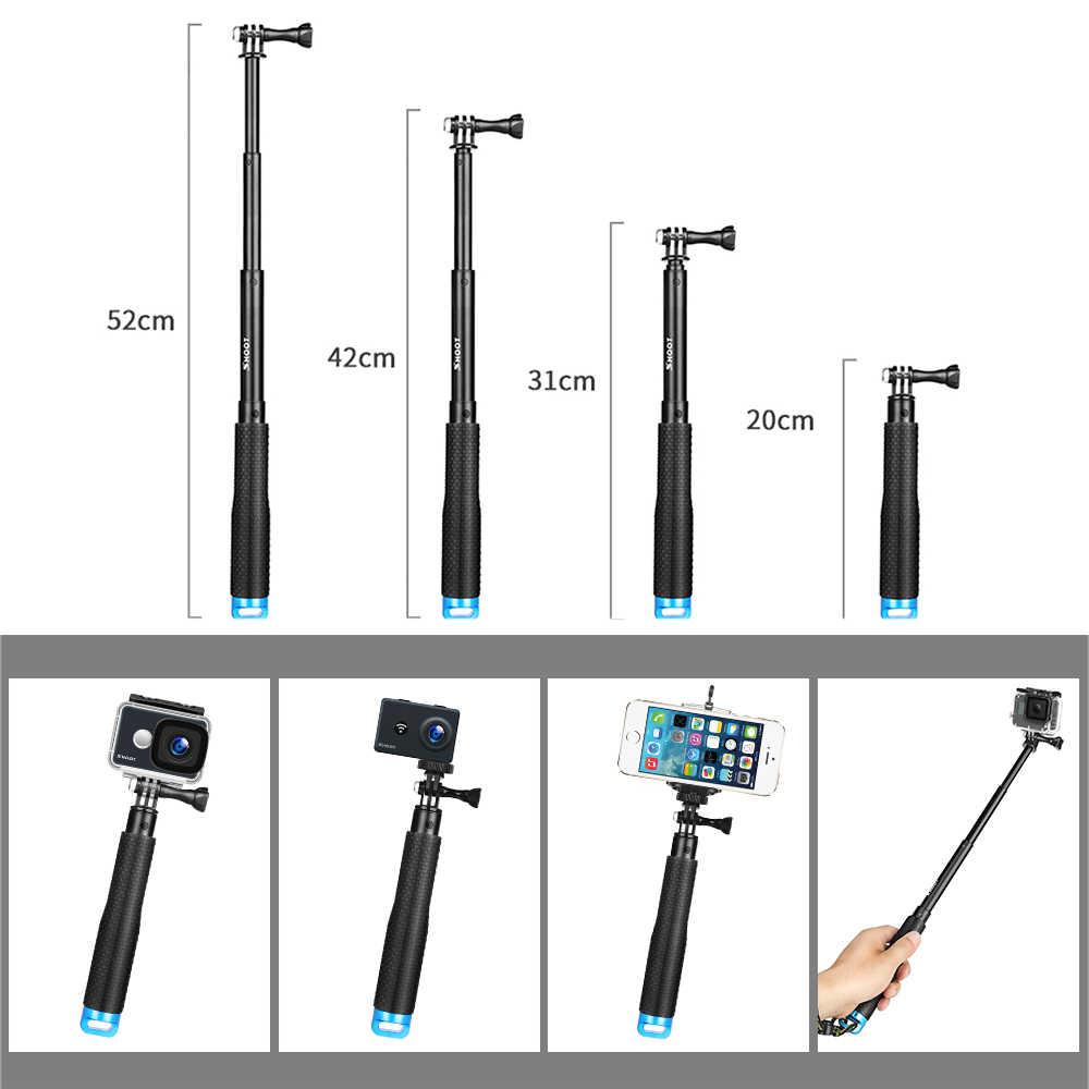 Снимать экшн Камера селфи набор аксессуаров для GoPro Hero 6 5 7 черный 4 Sjcam Sj4000 спортивной экшн-камеры Xiaomi Yi 4 K монопод ременные клепления на голову и грудь Крепление ремня