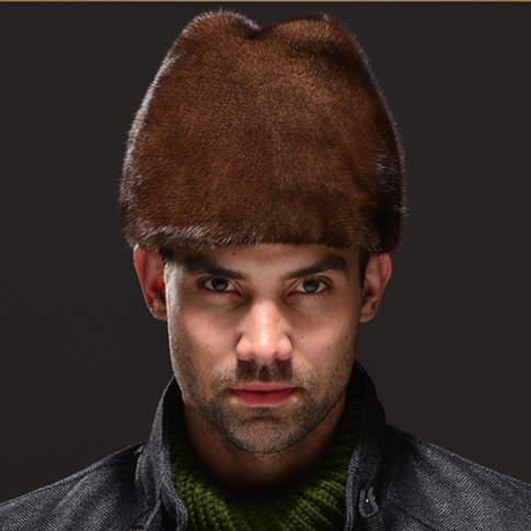 Hm027 Real genuine mink fur chapéu do inverno russo dos homens tampas quentes todo pedaço de vison chapéus de pele