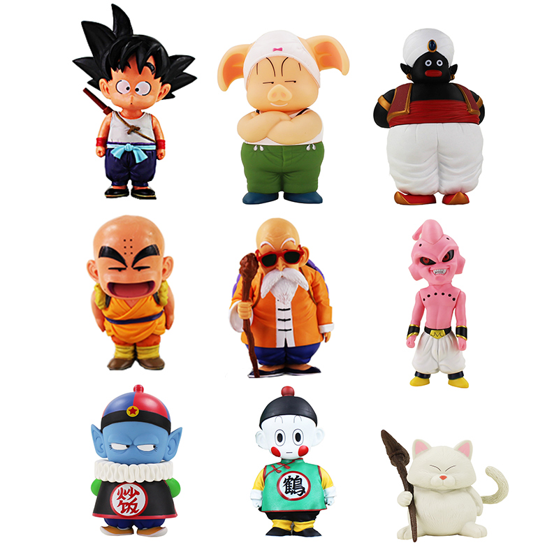 Anime Dragon Ball Z Son Goku Oolong Chiaotzu Pilaf Childhood Krillin PVC Action Figure Collection Model Toy Gift For Children