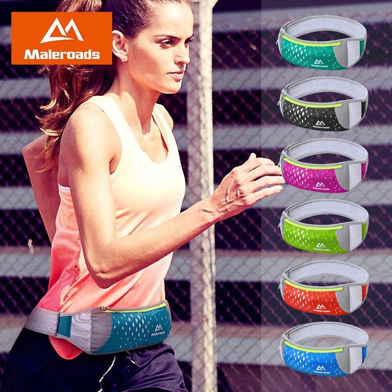 Maleroads Waist Bag Sport Bag Running Belt Phone Bag Lightweight Breathable Sport Waist Pack Gym Marathon Cycling Bag
