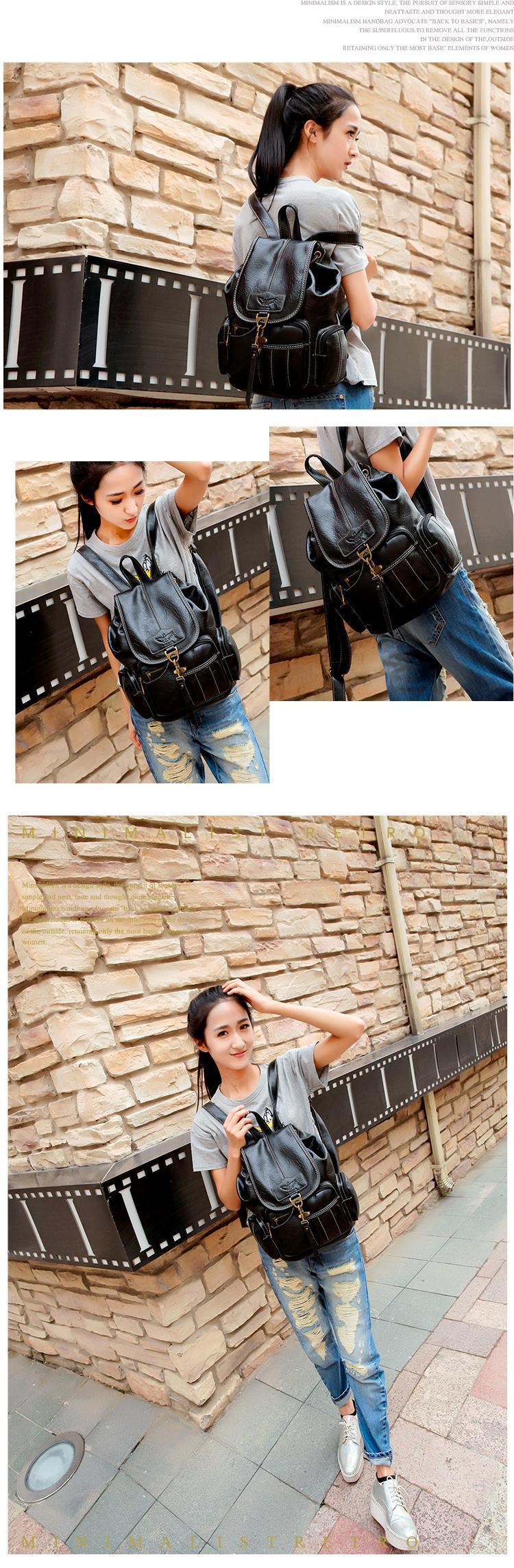 HTB1CM .yuGSBuNjSspbq6AiipXao High Quality Women Backpack Vintage Backpacks For Teenage Girls Fashion Large School Bags PU Leather Black Mochila Feminina