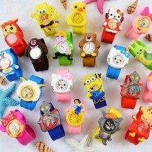 Baby Toys Gift Children Watch cartoon Spiderman clock kids A