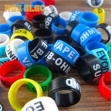 REE ELEC 14mm*7mm Vape Pen Protection Band Decoration Silicon Rubber Rings For Ego Evod Series Electronic Cigarette Accessories