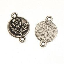 9bd8c97c9482 DIY encantos conectores colgantes pulseras collares pendiente plata antigua  flor redonda Metal joyería componentes 17 11 2mm 50 .