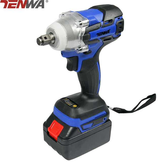 TENWA Brushless Electric Wrench 21V 4000mAh Cordless Power Tool 320N.m Torque Rechargeable Impact Wrench Extra Battery Avaliable lithium rechargeable electric wrench wrench cordless impact wrench scaffolding installation tool can change car wheel