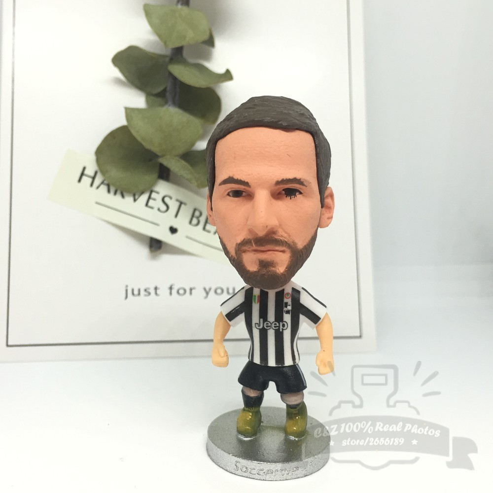 Soccerwe dolls figurine football stars classic Higuain 9# J Movable joints resin model toy action figure dolls collectible gift