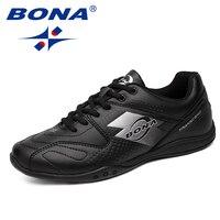 BONA New Arrival Typical Style Men Walking Shoes Lace Up Men Shoes Outdoor Jogging Sneakers Comfortable Soft Men Athletic Shoes