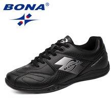 Мужская прогулочная обувь bona черные кроссовки на шнуровке