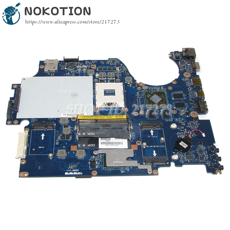 NOKOTION NAT01 LA-5153P CN-0J507P 0J507P J507P Laptop Motherboard For dell Studio 17 1747 Main Board HD4650 PM55 DDR3 nokotion laptop motherboard for dell vostro 3500 cn 0w79x4 0w79x4 w79x4 main board hm57 ddr3 geforce gt310m discrete graphics