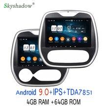TDA7851 Android 9,0 для Renault Capture MT AT 2011- 4 Гб 64 Гб rom автомобильный dvd-плеер gps ГЛОНАСС карта RDS радио wifi Bluetooth