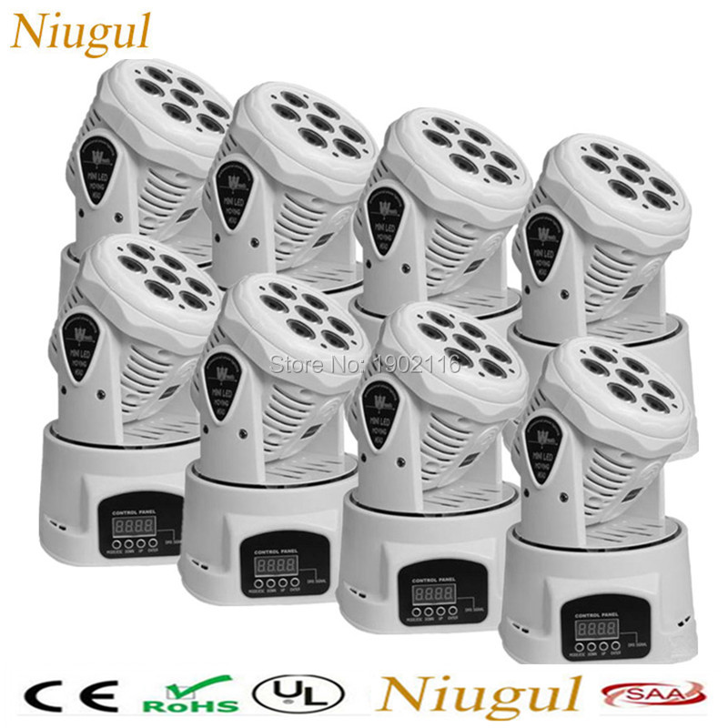 8pcs Best quality RGBW 7x12w LED Moving Head light 4IN1 Mini Wash light Disco DJ wedding Xmas party DMX512 stage efffect lights 6pcs lot good quality 7 12w mini rgbw led moving head light laser christmas party lights 12 months warranty