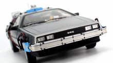 1:18 Back To The Future Movie Series Delorean Alloy Toy DMC-12 Sci-fi Car Model Finished Car Toys for Kids Children Present(China)