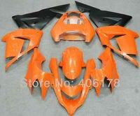 المبيعات الساخنة ، 04 05 نينجا zx 10r fairings ل كاوازاكي نينجا zx10r 2004-2005 البرتقال سباق الدراجة كيت (حقن)