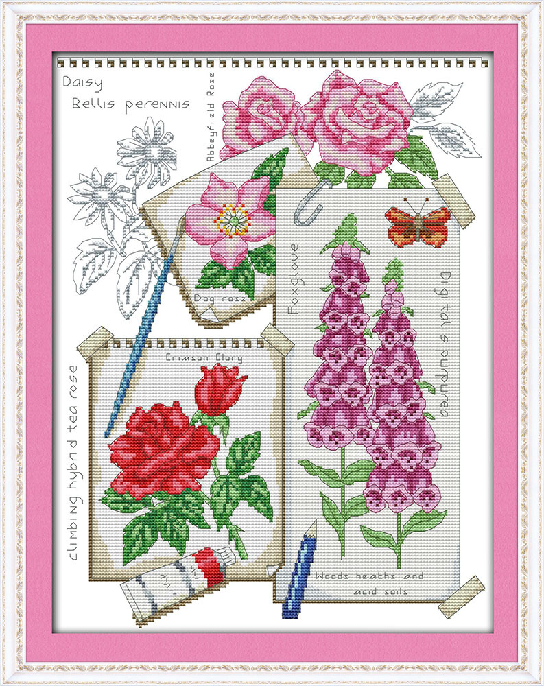 Draw the summer Printed Canvas DMC Counted Cross Stitch Kits printed Cross-stitch set Embroidery Needlework