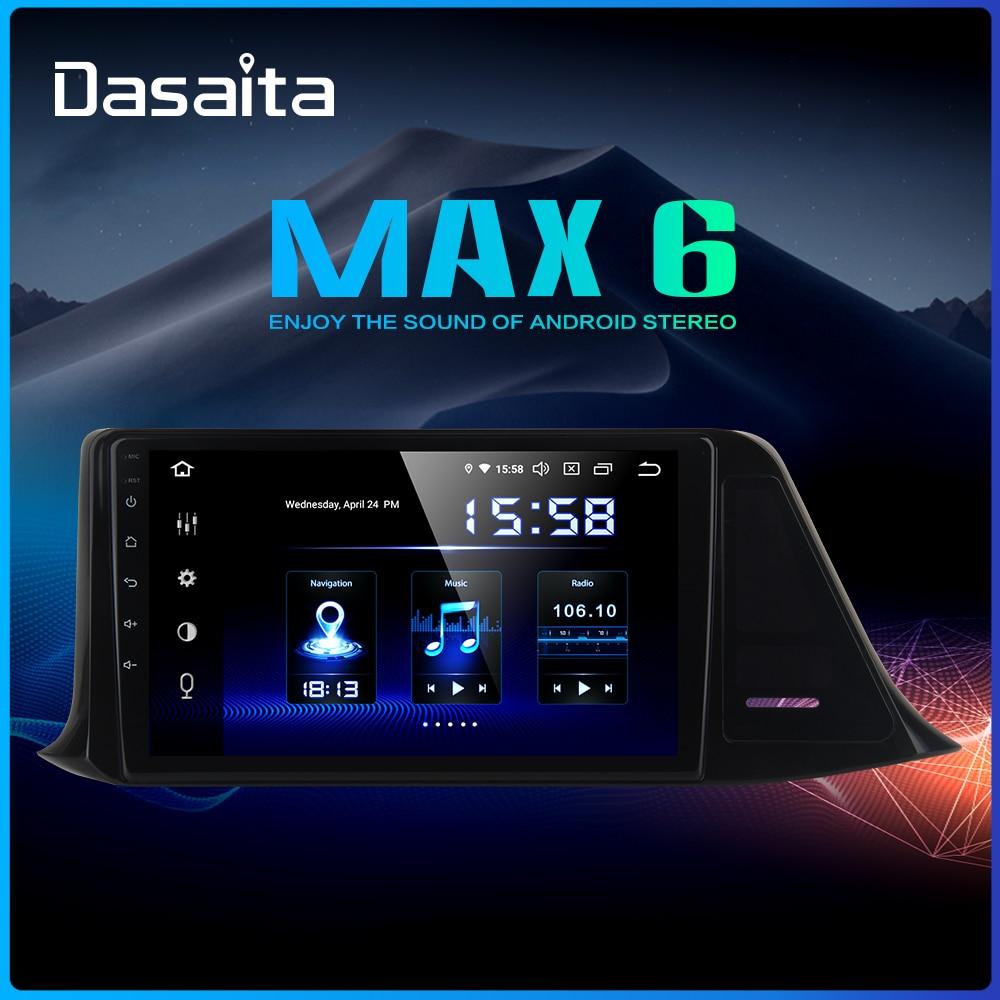 Autoradio Dasaita 1din Android 9.0 Autoradio pour Toyota C-HR CHR 2016 2017 2018 GPS Autoradio 9 IPS ecran 64GB ROM