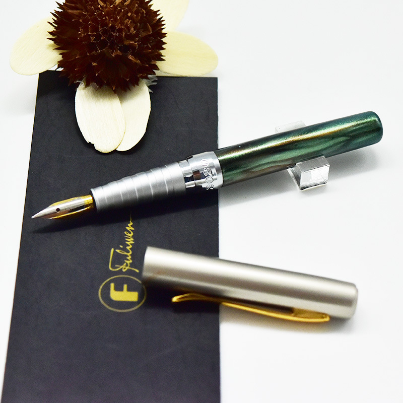 Fuliwen Z2020 advanced Pocket pen mini size Iraurita Fine nib elegant Squeeze type metal Fountain PenFuliwen Z2020 advanced Pocket pen mini size Iraurita Fine nib elegant Squeeze type metal Fountain Pen