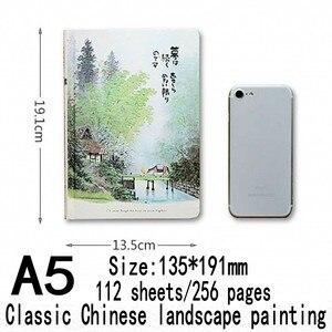 Image 5 - Caderno do vintage estilo chinês capa dura em branco páginas de cor papel ilustração diário viagem diário planejador sketchbook a5 notebooks
