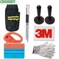 CNGZSY Window Tint Tool Oxford Bag Suede Squeegee Wool Scraper Vinyl Cutter Knife Nylon Gloves Car Sticker Film Wrap Tools K21