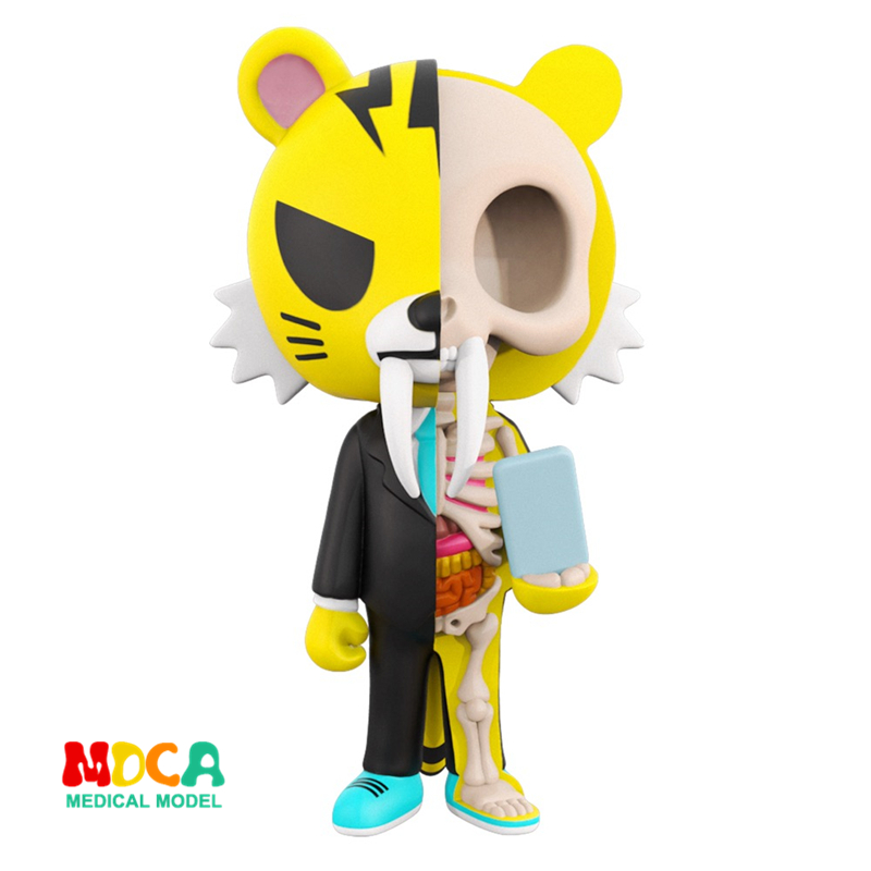Tigerman 4D XXRAY master Mighty Jaxx Jason Freeny anatomy Cartoon ornament cacti mighty 4d xxray master mighty jaxx jason freeny anatomy cartoon ornament