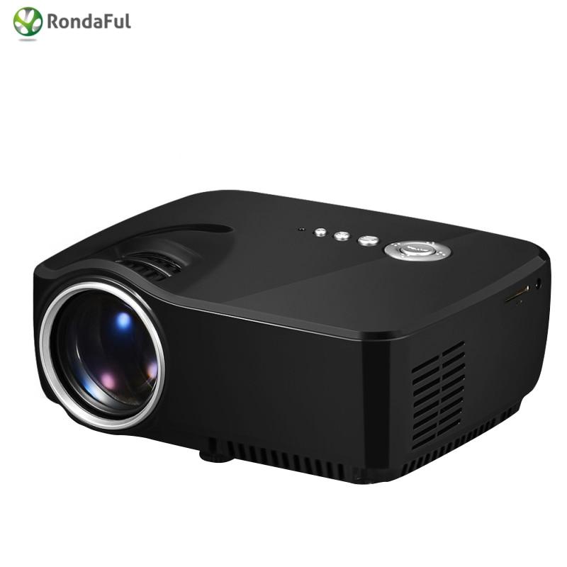2016 Portable Mini Pico Projector LED Multi-media HDMI Home Theater Projectors MINI Beamer GP70 Home Cinema Digital Projectors