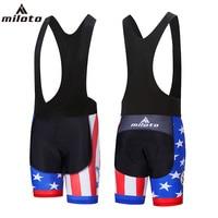 USA Miloto 2018 Men S Cycling Short Black Bib Pants Bicycle GEL Padded Bibs Shorts For