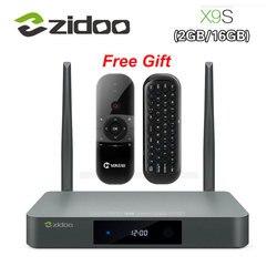 Original Zidoo X9S Smart TV BOX Android 6.0 +OpenWRT(NAS) Realtek RTD1295 2G/16G 802.11ac WIFI Bluetooth 1000M LAN Media Player