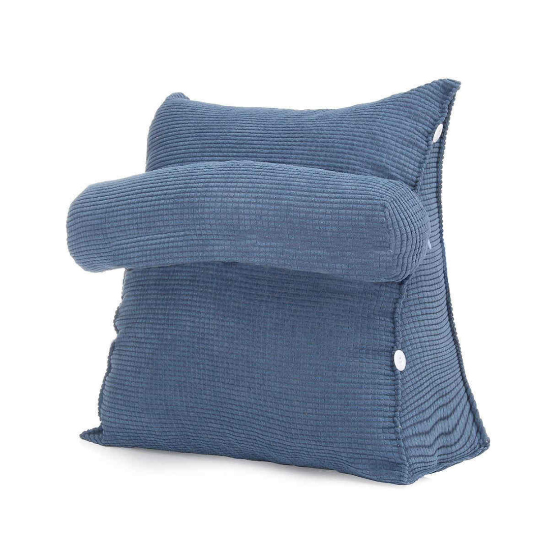 Bed pillow chair - Adjustable Solid Chair Rest Neck Waist Support Back Wedge Cushion Office Sofa Bed Pillow Backrest 45x40x22cm