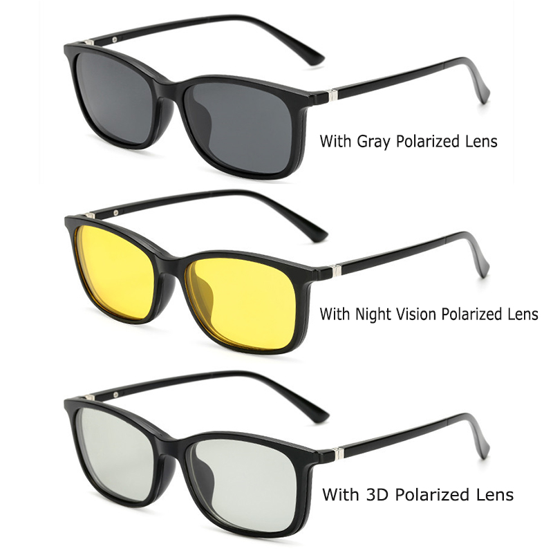 Optische Brillengestell Männer Frauen Mit 3 Polarisierten 3D Clip - Bekleidungszubehör - Foto 6