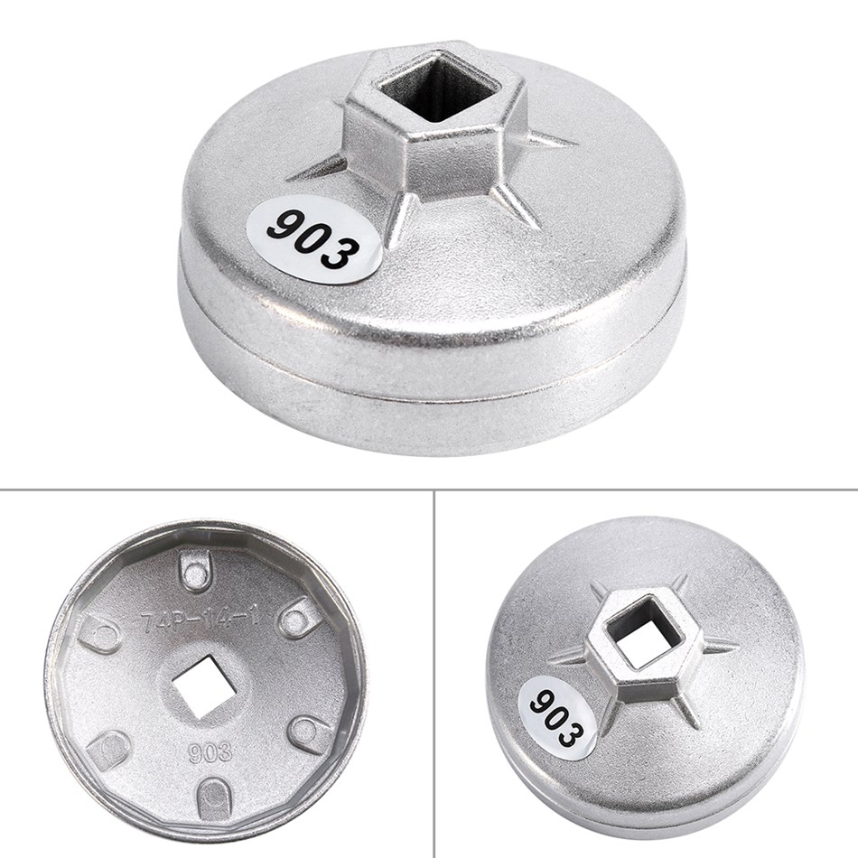 Image 5 - 74mm 14 Flute Aluminum Oil Filter Wrench Socket Remover Tool For BMW For AUDI For Benz Oil Filter Wrench Auto Tool-in Oil Filters from Automobiles & Motorcycles