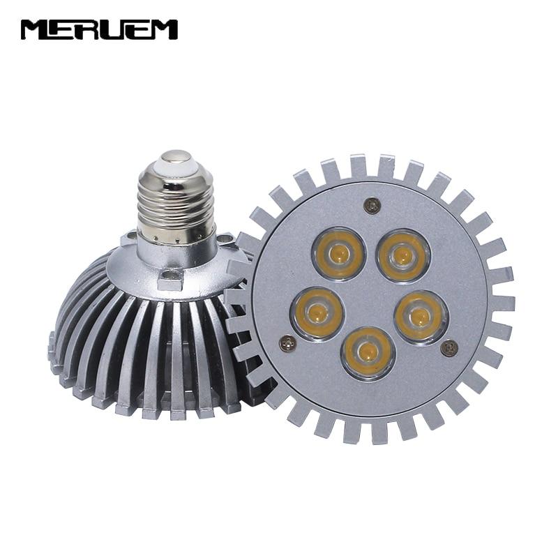 Free shipping PAR30 5W 7W E27 High Power LED spotlight led ceiling light down lamp bulb AC85-265V Die casting umbrella Bulb